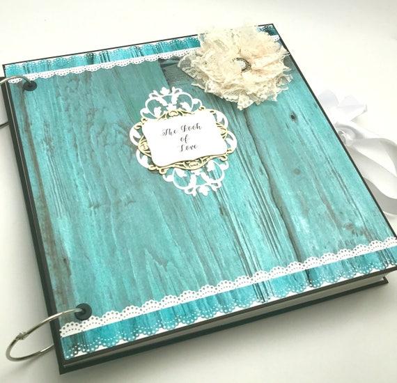 Rustic anniversary scrapbook album gift for