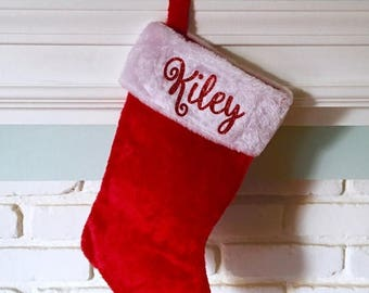 ON SALE Personalized Christmas Stocking, Custom Stocking, Pet Stocking, Monogram Stocking. Get before christmas~!