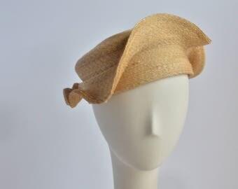 Straw Clam Shell Hat Turban