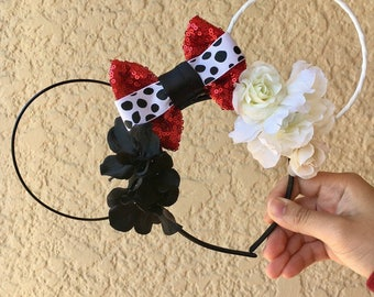 Cruella de Vil ears   101 Dalmations   Cruella de Vil Inspired   Wire Ears   Mouse Ears