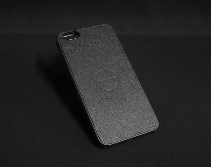 Apple iPhone 6 Plus + - Jimmy Case in Black Texture - Kangaroo leather - Handmade - James Watson