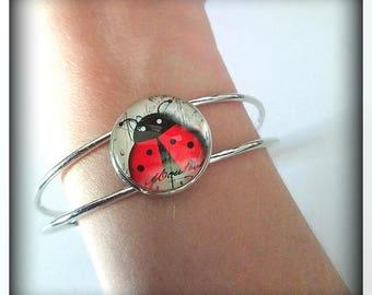 Rigid Ladybug lucky bracelet