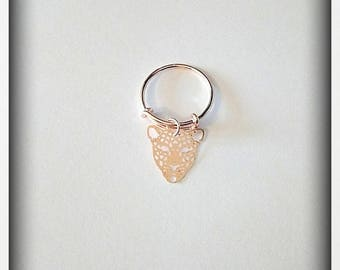 Ring rose gold leopard charm