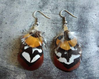 Pair of feather earrings