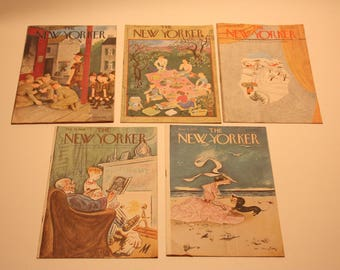 Vintage The New Yorker Overseas Edition For Armed Forces Magazine