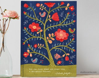 Rose Tree Flower Journal   Studio Carrie   Gifts for Her