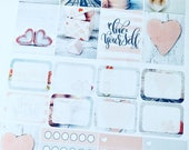 Love Yourself - set of 25 stickers perfect for Erin Condren Life Planner, Kikki K, Happy Planner or Filofax Planner