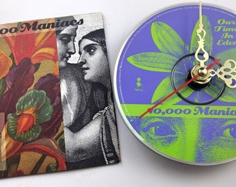 CD Clock 10,000 Maniacs Our Time In Eden Handmade Clock FREE U.S. SHIPPING Unique Birthday Present Gift