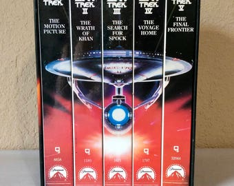 Star Trek The Movies 25th Anniversary Collector's Set from the Original Series (VHS, 5-Tape Set)