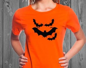 Bats Women's Halloween Tshirt