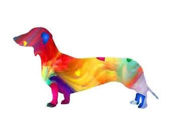 Dachshund print,  Wall Art,  Watercolor, dog art