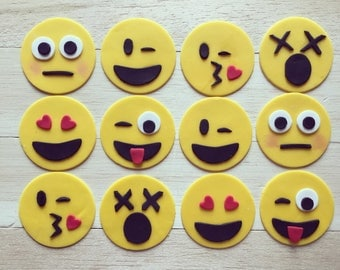 Emoji Fondant cupcake toppers, emoji cupcakes