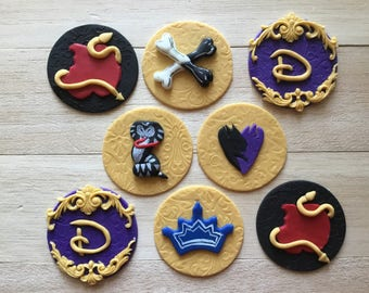 Descendants 2 Dinsey nspired fondant toppers