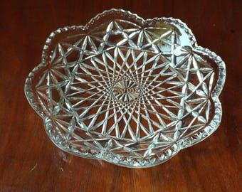 Vintage Avon Clear Glass Candy Dish