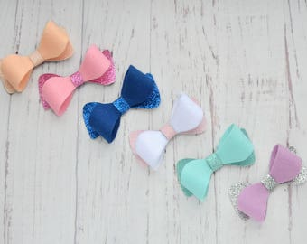 Faux leather bows Girls bows Leather hair accessories Leather hair bow Leather hair clip Toddler bows Leather bow headbands Newborn bow