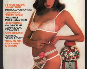 Mature Vintage Penthouse Magazine Mens Girlie Pinup : October 1976 VG+ White Pages