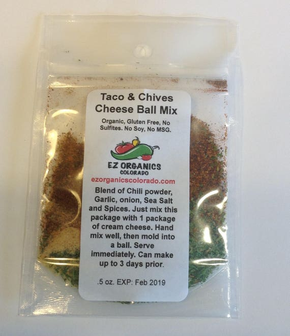 Taco Chive Cheese Ball Mix. Great for the Holidays or stocking stuffers