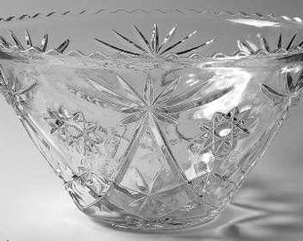 Vintage Anchor Hocking EAPC Star of David Candy Dish Punch Bowl Footed Bowls Gondola Vase Pitcher Plate