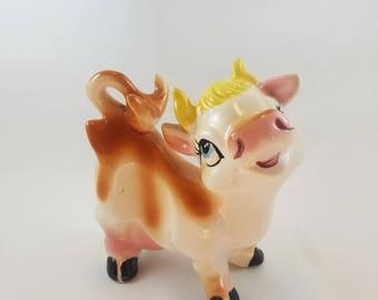 Vintage Dreamy Cow Figurine