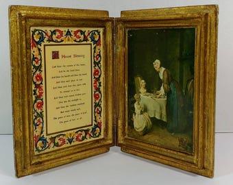 Vintage Italian Florentine gilded house blessing book Italian Florentine from Italy housewarming gift vintage Italian Florentine