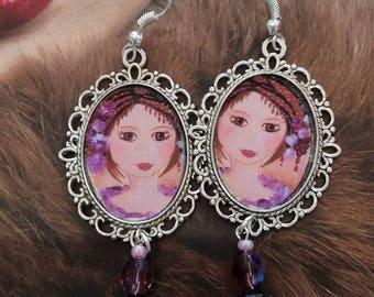 "Earrings ""in the eyes of mina"""