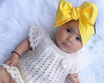 YELLOW headwrap, baby head wrap, fabric head wrap, newborn head wraps, toddler headwrap, turban headwraps, yellow baby headband