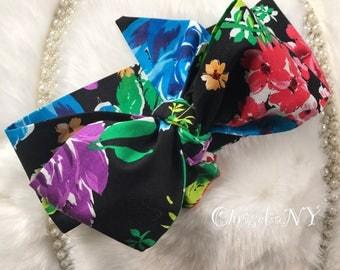FLORAL GARDEN Headwrap, Newborn Headwrap, Fabric Headwraps, floral  headwrap, Toddler Headwrap,  baby headwrap, baby headband, headwra