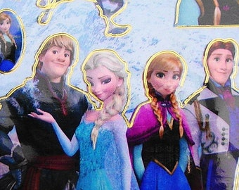 1PLANCHE STICKERS FROZEN FROZEN FOR ADULTS AND CHILDREN