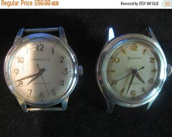 Summer Sale 2 Watches Classic Men's 'Proof' 1964 Vintage Caravelle by Bulova  Vintage Bulova Men's Self winding Watch Automatic