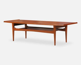 Danish Modern Teak Coffee Table By Moreddi