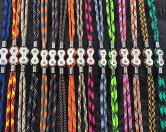 Bike chain paracord bracelet