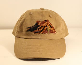 Embroidered Western Canyon Cactus Hat