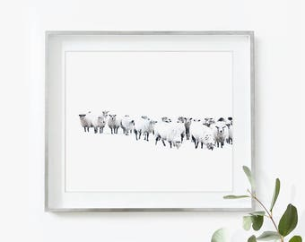 Farmhouse Decor, Farm Animal Print, Sheep Print, Baby Nursery Print, Baby Farm Animal Art, Farmhouse Wall Decor, Large Poster Print