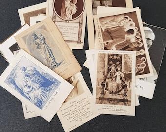 lot 20pcs vintage french prayer cards, holy cards, saint cards, christian saint cards, paper ephemera, prayer booklets