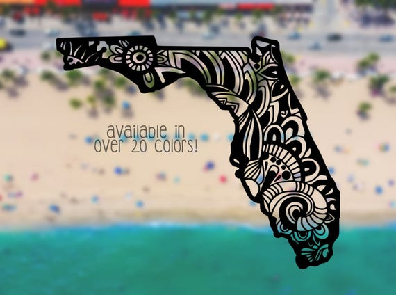 Florida Decal Florida Decals Florida Car Decal Car Window