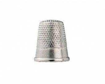 Thimble silver steel 18 mm