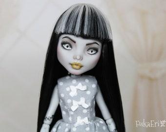 Monster High Custom Repaint Art doll OOAK Frankie Stein