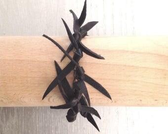 TOXIK black leather strap