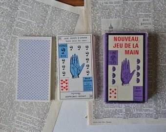 Tarot Palmistry Game - Hands Up Tarot Cards - Vintage - French Cards - Nouveau Jeu de la Main - Lunar Hand - Grimaud - France