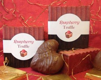 Raspberry Truffle Soap GLUTEN FREE
