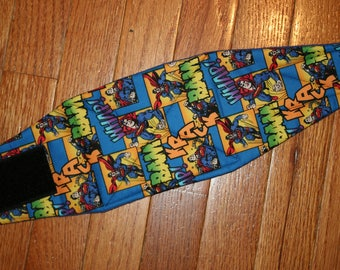 Belly Band for Male Dog Diaper, NEW DESIGN quilted for training, incontinence, marking, tapered ends - Superman - by angelpuppi