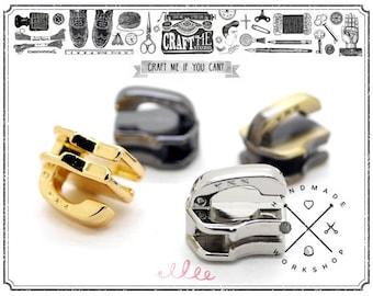 10PCS YKK No.5 Metal SLIDER BODY Fastener Zipper (for metal teeth)