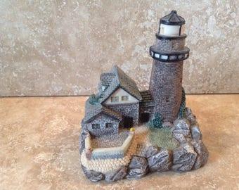 lighthouse scene resin decor