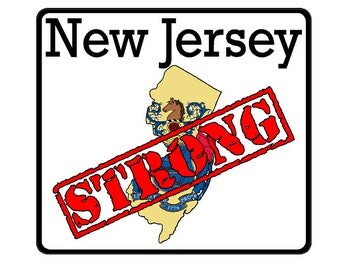 New Jersey State (K31) Strong Flag Vinyl Decal Sticker Car/Truck Laptop/Netbook Window