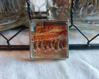 Vintage Postcard Marching Band Pendant