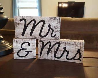 Mr & Mrs Wood Blocks