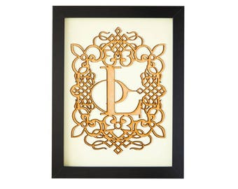 L - FRAMED MONOGRAM