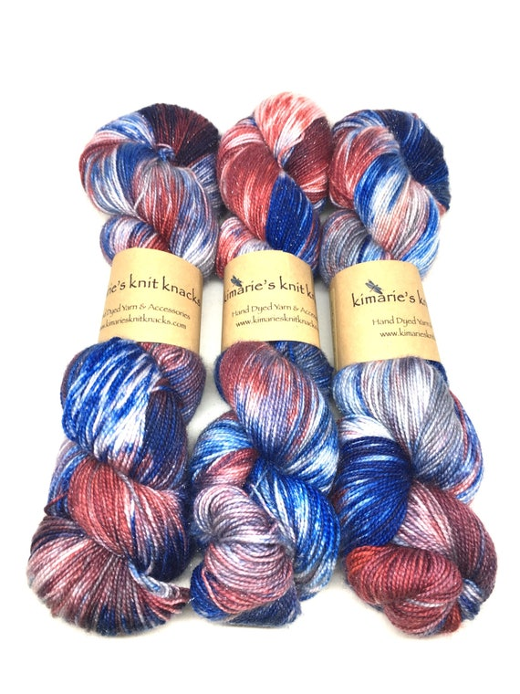 Hand Dyed Sparkle Yarn, Sock Yarn, Fingering Yarn_ Prime