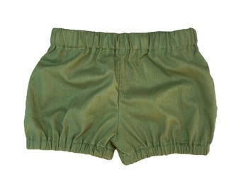 Olive Green Bloomers - Baby Girl -Handmade Toddler - Baby Photo Prop - Baby Shower Gift - toddler
