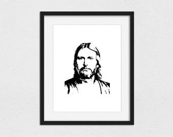 Jesus Christ Printable // Instant Download // Printing Services Available // Foil Printing Available // Christian Art // Jesus the Christ